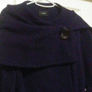 Zapa navy wool coat